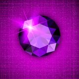 Gemstone round shaped on textured background Stock Photography