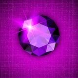 Gemstone round shaped on textured background stock photography