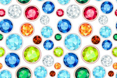 Gemstone saturated color seamless pattern Stock Photography