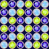 Gemstone seamless pattern Stock Images