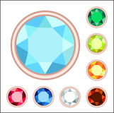 Gemstone set Stock Images