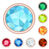 Gemstone set Royalty Free Stock Image