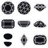 Gemstone Shapes Icons, Vector Illustration Stock Image