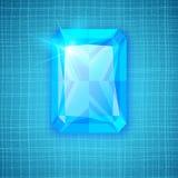 Gemstone on textured background stock photo