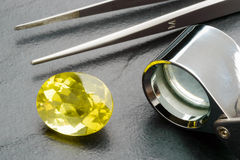 Gemstone and tools Stock Photography