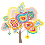 Gemstone Tree. Decorative tree inspired by the beauty of agate and quartz slices Stock Photography