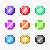 Gemstone vector illustrations Stock Photo