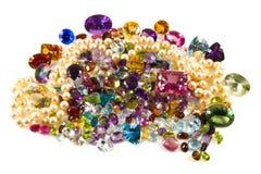 gemstones освобождают кучу Стоковые Изображения RF