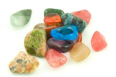 Gemstones. A photo of some gemstones over a white background Stock Photos