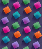Gemstones abstract seamless pattern.  Colorful transparent gems Stock Images