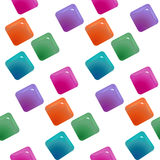 Gemstones abstract seamless pattern.  Colorful transparent gems Stock Photos