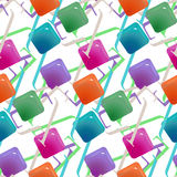 Gemstones abstract seamless pattern.  Colorful transparent jelly Royalty Free Stock Photo