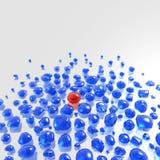 Gemstones azuis com único vermelho um Fotos de Stock