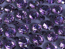 Gemstones background. Diamond. Amethyst Royalty Free Stock Photography