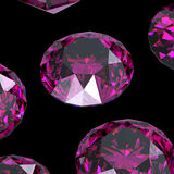 Gemstones background. Diamond. Amethyst Stock Photo
