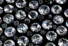 Gemstones background. Diamond Stock Photos