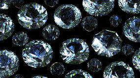 Gemstones background. Diamond Stock Photography