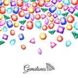 Gemstones Background Illustration Stock Photos