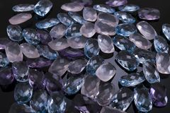 Precious and colored stones royalty free stock images