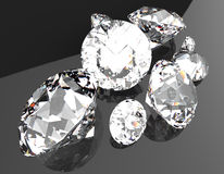 Gemstones 3d render. 3D render of different gemstones. Close up Royalty Free Stock Photos