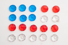 Gemstones in the form of the American flag Royalty Free Stock Photos