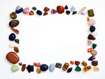 Gemstones frame Royalty Free Stock Photography