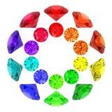Gemstones Kaleidoscope Of Rainbow Colours Royalty Free Stock Image