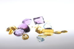 Gemstones on light background Royalty Free Stock Image