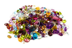 gemstones loose stapeln Royaltyfri Bild