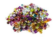 gemstones loose stapeln royaltyfri fotografi
