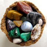 Gemstones, lustrado, assorted Imagem de Stock Royalty Free