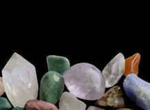 Gemstones margin Stock Photo