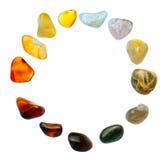 Gemstones na białym tle Zdjęcie Royalty Free