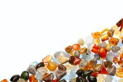 Gemstones na białym tle Obraz Royalty Free
