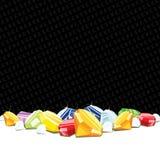 Gemstones och diamanter som spelar bakgrund Arkivfoto