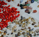 Gemstones for sale at the street market in Gaya, India.  Stock Image