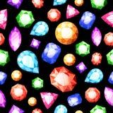 Gemstones Seamless Pattern Royalty Free Stock Photo