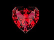 Gemstones tło Diament garnet Obraz Royalty Free