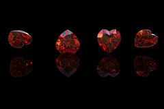 Gemstones tło Diament garnet Obrazy Royalty Free