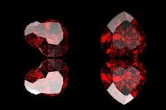 Gemstones tło Diament garnet Zdjęcie Royalty Free