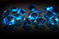 Группа в составе gemstones topaz. Стоковое Изображение RF
