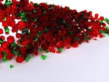 gemstones zielenieją czerwień fotografia royalty free