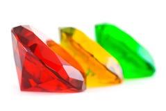 gemstones zielenieją czerwonego kolor żółty Zdjęcie Stock