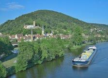 Gemuenden上午主要, Spessart,巴伐利亚,德国 库存照片