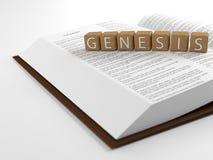Genèse et la bible Photos stock