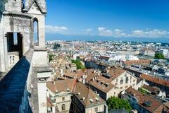 Genève aérienne Suisse images stock
