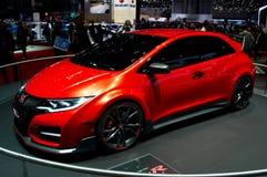 Genève 2014 för begrepp för Honda Civic typ R Fotografering för Bildbyråer