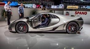 Genève Motorshow 2012 - 2012 GTA Spano Royalty-vrije Stock Foto's