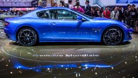 Genève Motorshow 2012 - 2013 Maserati GranTurismo Royalty-vrije Stock Foto's