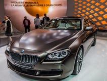 Genève Motorshow 2012 - BMW neuve 6 séries Photo stock
